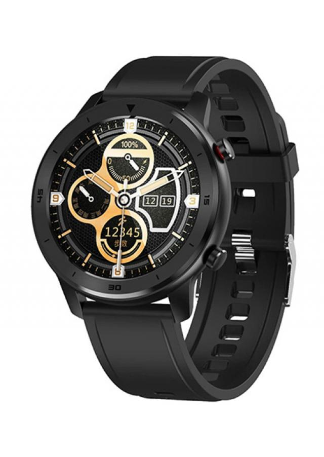 Pametni satovi i oprema - MOYE SMART WATCH DT78 BLACK SILICONE STRAP-BLACK WATCH - Avalon ltd